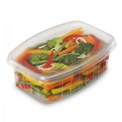 Barquette plastique transparente Pack Chaleur 1200 ml avec couvercle - par 200