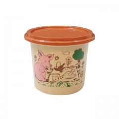 """Pot plastique PP """"rillettes maison"""" avec couvercle 125 ml - par 250"""