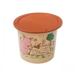 """Pot plastique PP """"rillettes maison"""" avec couvercle 250 ml - par 250"""