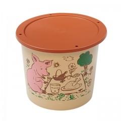 """Pot plastique PP """"rillettes maison"""" avec couvercle 500 ml - par 250"""