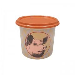 """Pot plastique PP """"rillettes de porc"""" avec couvercle 125 ml - par 250"""