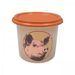 """Pot plastique PP """"rillettes de porc"""" avec couvercle 250 ml - par 250"""