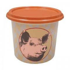 """Pot plastique PP """"rillettes de porc"""" avec couvercle 500 ml - par 250"""