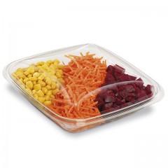 Boite à salade crudipack 750 ml cristal avec couvercle - par 70