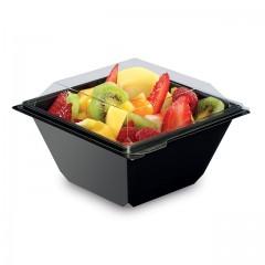 Boite à salade FRESHIPACK noire 370 ml avec couvercle - par 360