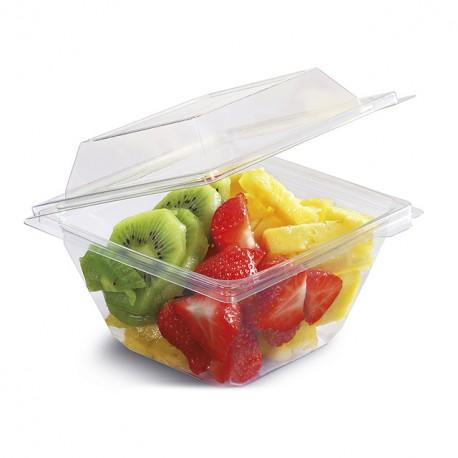 Barquette Freshipack transparente 370 gr avec couvercle attenant - par 450