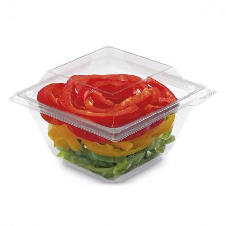 Barquette Freshipack transparente 500 gr avec couvercle attenant - par 450