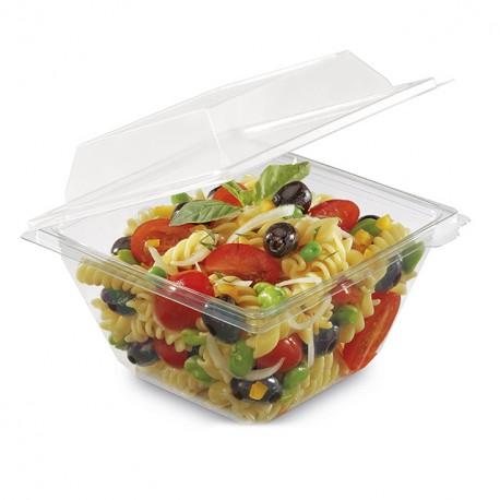 Barquette Freshipack transparente 750 gr avec couvercle attenant - par 180