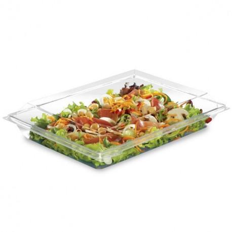 Grande boite plastique à salade 1200 ml Takipack cristal