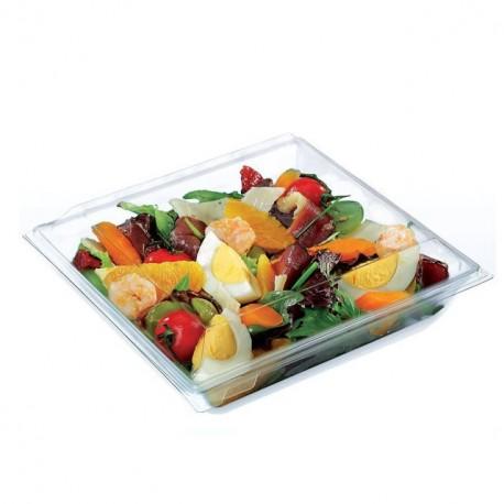 Boite plastique à salade TAKIPACK cristale 700 ml avec couvercle - par 240