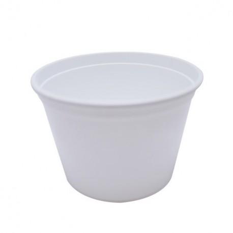 Pot à crème blanc de 25 cl - carton de 1000