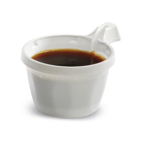 Tasse à café jetable blanche 10 cl - paquet de 50