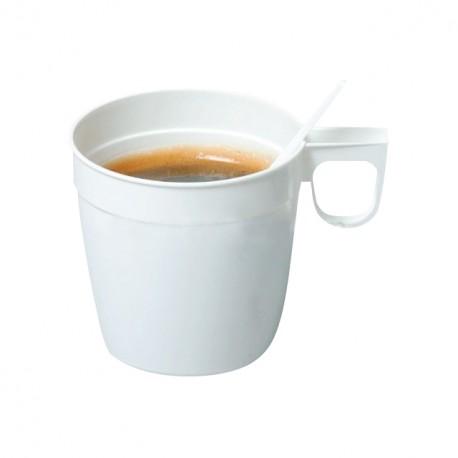 Tasse blanche jetable pour chocolat chaud 30 cl - carton de 500