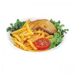 Assiette plastique creuse ronde 22 cm blanche - par 100