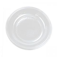 Assiette plastique ronde 12 cm creuse blanche - par 100