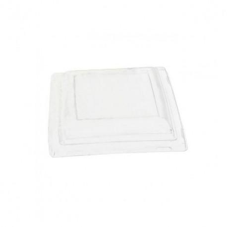 Couvercle transparent pour assiette carrée 24 cm - par 25
