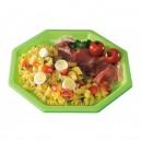 Assiette plastique octogonale 18,5 cm verte anis - par 400
