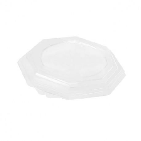 Couvercle transparent pour assiette octogonale 18,5 cm - par 400