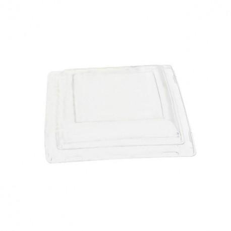 Couvercles transparents pour assiettes carrées 18,5 cm - par 25