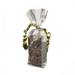 Sachet confiseur décor bandes or fond carton 120 x 260 mm