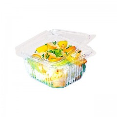 Barquette plastique transparente Optipack à couvercle 370 ml - par 50