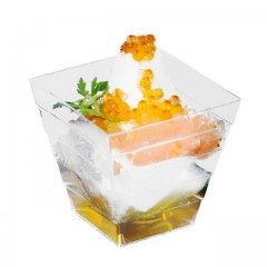 Petite verrine pyramide 60 ml effet cristal - par 50