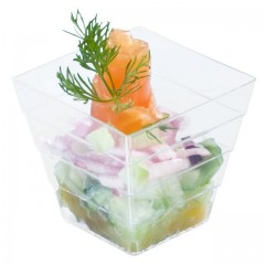 Moyenne verrine pyramide 120 ml effet cristal - par 50
