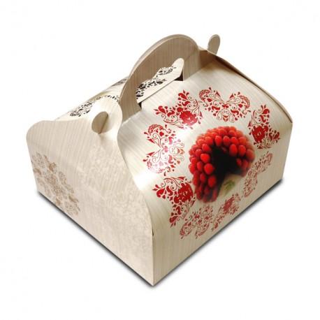 Boîte pâtissière avec poignée 18 x 16 x 7 cm décor BAROQUE- par 50