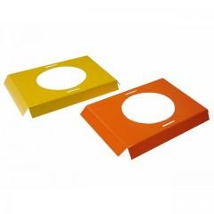 Calages jaunes et oranges pour boîte à poule de Pâques 18,1 x 11,6 x 2 cm - par 25