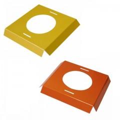 Calages jaunes et oranges pour boîte à oeuf de Pâques 13,9 x 13,9 x 2 cm - par 25