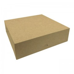 Boîte pâtissière kraft brun 30 x 30 x 8 cm - par 50