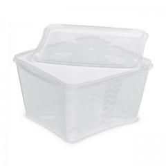 Boite prestipack transparente 1,5 kg avec couvercle - par 30