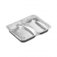 Barquette aluminium 2 compartiments 725 ml - par 1000