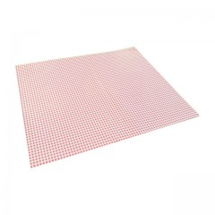 Papier duplex vichy rose 60 g/m² en feuilles de 33 x 40 cm - par 10 kg