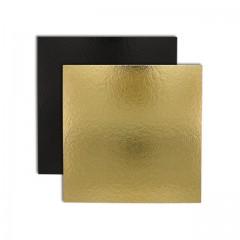 Carré carton or/noir 16 x 16 cm 1100 g/m² - par 50