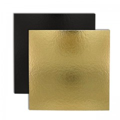 Carré carton or/noir 26 x 26 cm 1100 g/m² - par 50