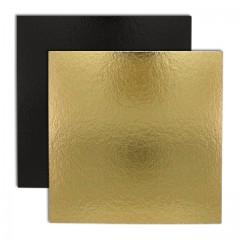 Carré carton or/noir 30 x 30 cm 1100 g/m² - par 50