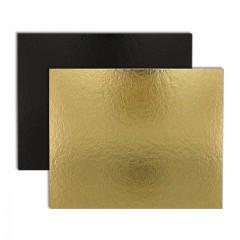 Rectangle carton or/noir 30 x 40 cm 1100 g/m² - par 25