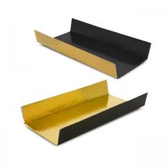 Fond plié or/noir 4,5 x 10 cm - par 200