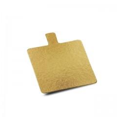 Carré avec languette or 6 x 6 cm - par 200