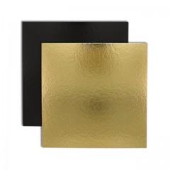 Carré carton or/noir 20 x 20 cm 1100 g/m² - par 50
