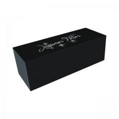 """Boîte à bûche """"Joyeuses Fêtes"""" noire 30 x 11 x 11 cm - par 25"""