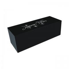 """Boîte à bûche """"Joyeuses Fêtes"""" noire 30 x 13 x 13 cm - par 25"""