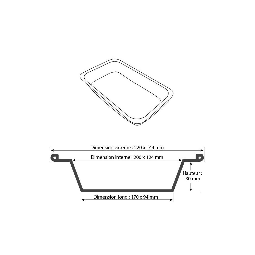 Vente barquette aluminium jetable 600 ml pas ch re - Plat aluminium jetable ...