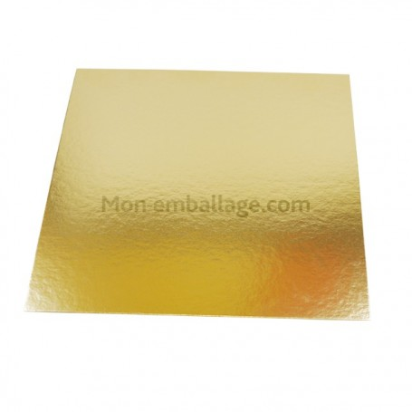 Carré or polyester 23,5 x 23,5 cm - paquet de 100