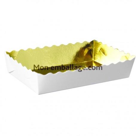 Caissette dentelée or 22 x 14 x 3,5 cm - paquet de 250