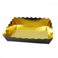 Caissette dentelle intérieur or/extérieur noir 13 x 9 x 3,5 cm - paquet de 250