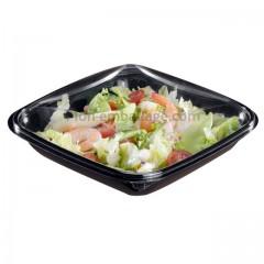 Boite à salade crudipack 750 gr noire avec couvercle - par 70