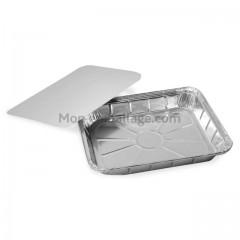 Barquette aluminium fermable 500 gr - carton de 100