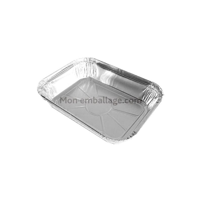 Grand plat aluminium jetable 1 kg fermable avec couvercle - Plat aluminium jetable ...